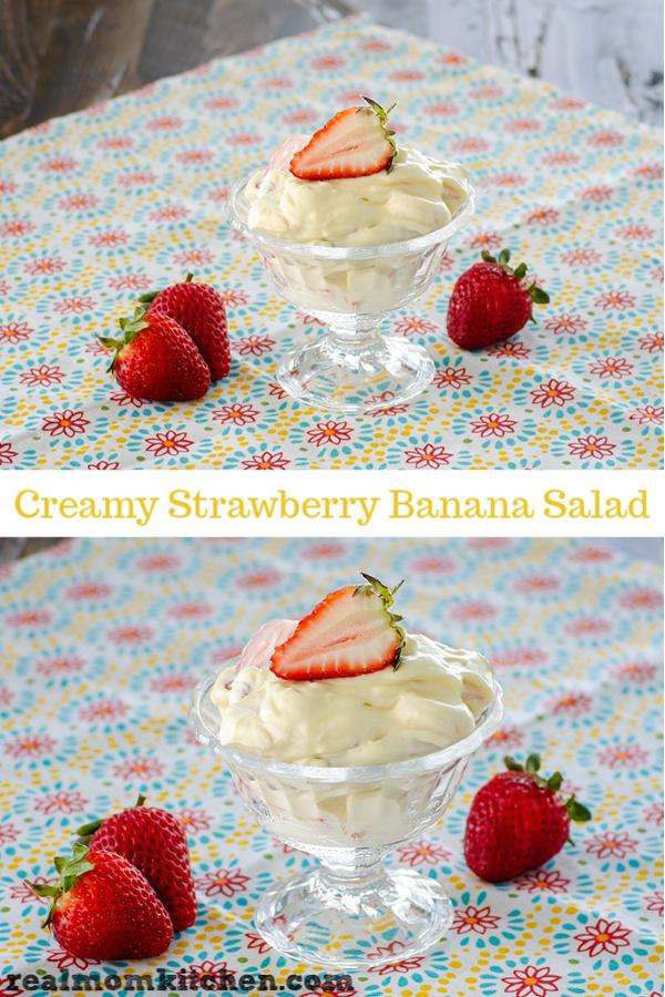 Creamy Strawberry Banana Salad | realmomkitchen.com
