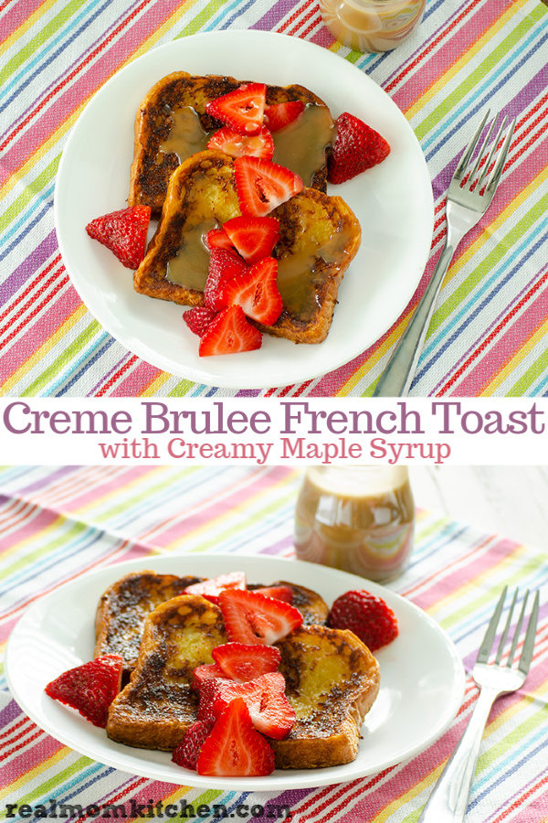 Creme Brulee French Toast | realmomkitchen.com