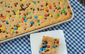 Sheet Pan Monster Cookie Bars | realmomkitchen.com