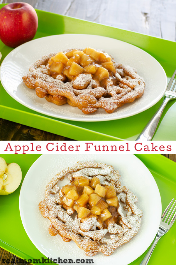 Apple Cider Funnel Cakes | realmomkitchen.com