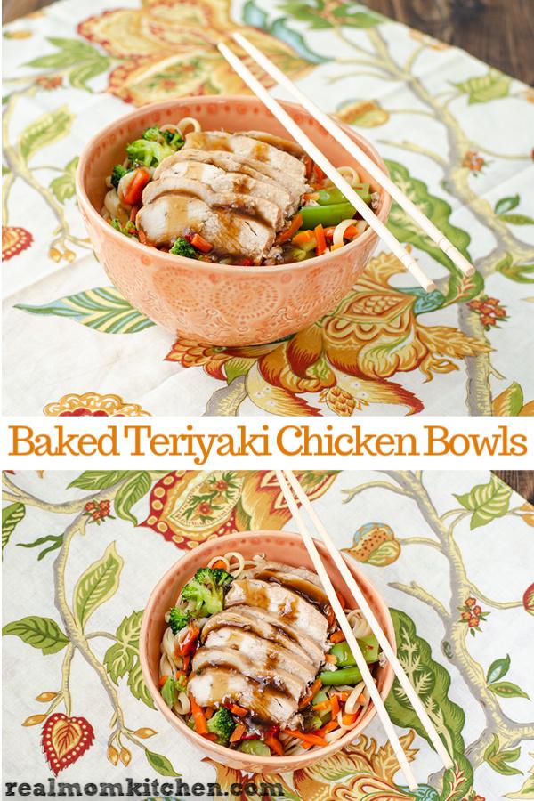 Baked Teriyaki Chicklen Bowls | realmomkitchen.com