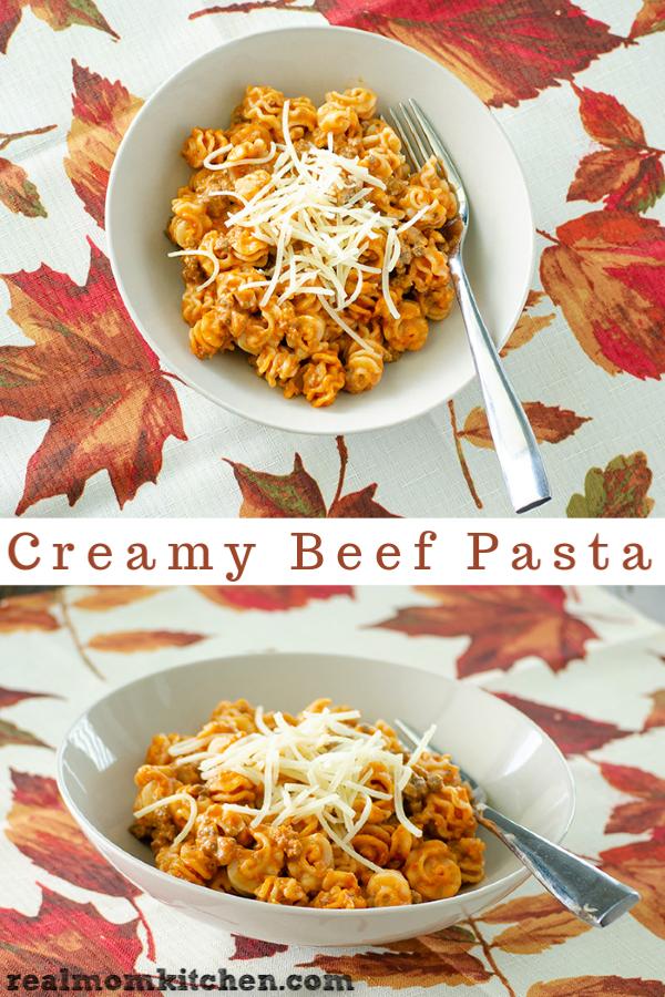 Creamy Beef Pasta | realmomkitchen.com