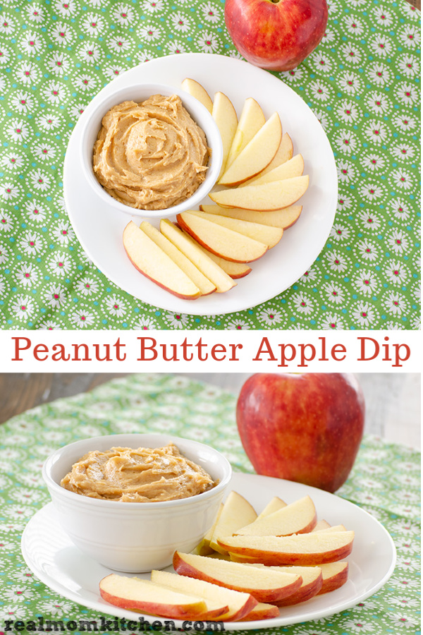 Peanut Butter Apple Dip | realmomkitchen.com