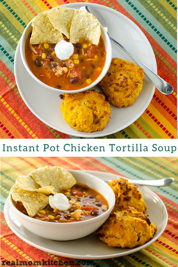 Instant Pot Chicken Tortilla Soup | realmomkitchen.com