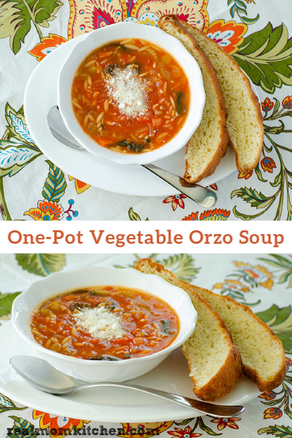 One-Pot Vegetable Orzo Soup | realmomkitchen.com