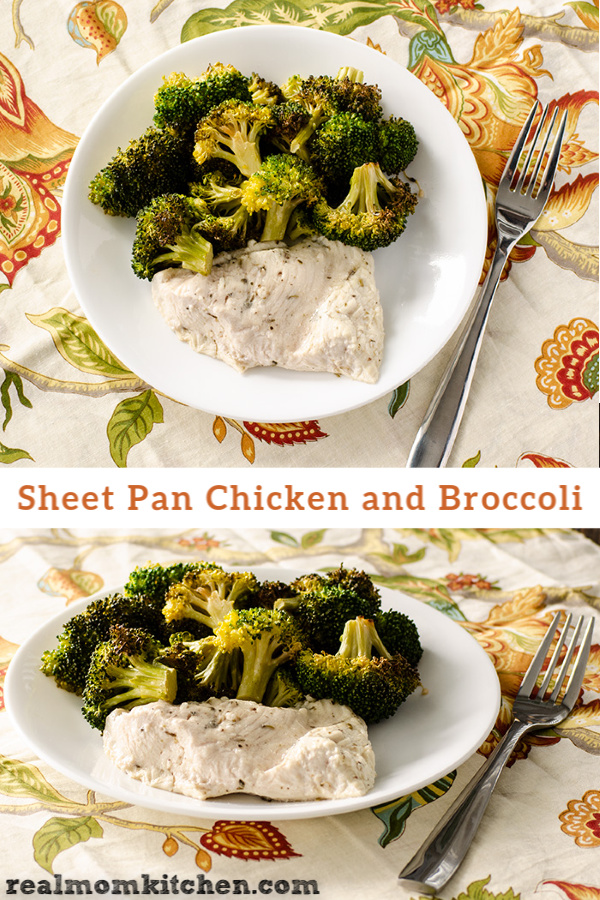 Sheet Pan Chicken and Broccoli | realmomkitchen.com