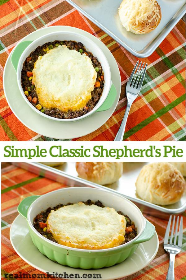 Simple Classic Shepherd's Pie | realmomkitchen.com