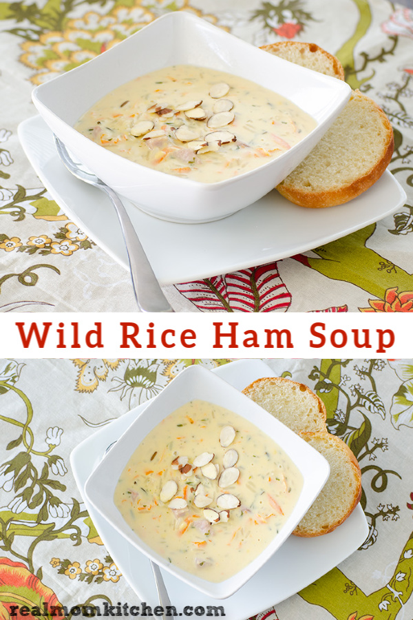 Wild Rice Ham Soup | realmomkitchen.com