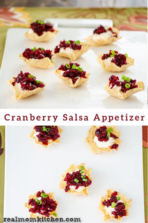 Cranberry Salsa Appetizer | realmomkitchen.com