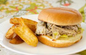 Crock Pot Peperoncini Pork | realmomkitchen.com