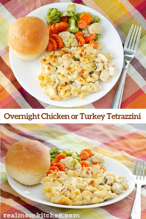 Overnight Chicken or Turkey Tetrazzini | realmomkitchen.com