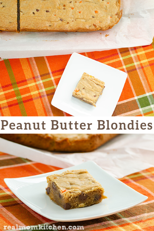 Peanut Butter Blondies | realmomkitchen.com