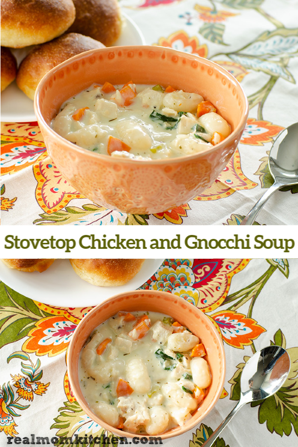 Stovetop Chicken and Gnocchi Soup | realmomkitchen.com
