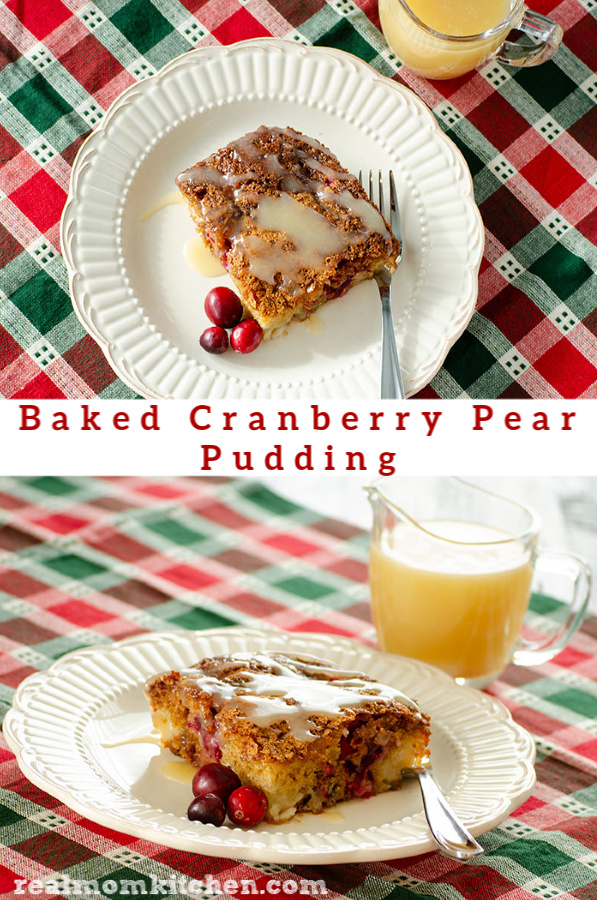 Baked Cranberry Pear Pudding | realmomkitchen.com