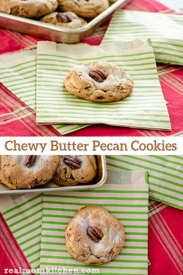 Chewy Butter Pecan Cookies | realmomkitchen.com