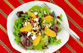 Christmas Salad with Citrus Vinaigrette | realmomkitchen.com