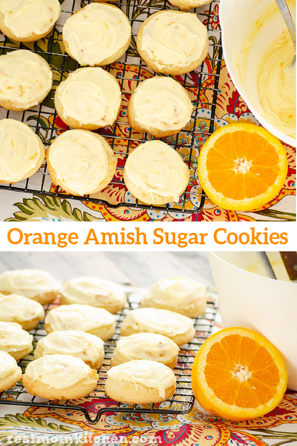 Orange Amish Sugar Cookies | realmomkitchen.com