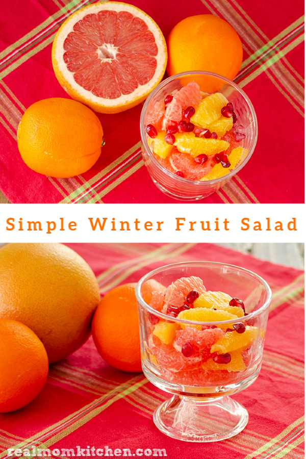 Simple Winter Fruit Salad | realmomkitchen.com
