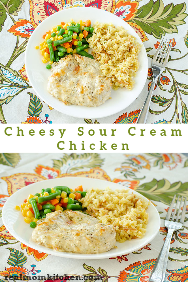Cheesy Sour Cream Chicken | realmomkitchen.com