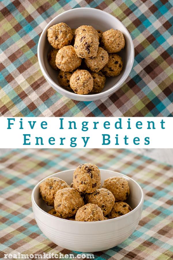 Five Ingredient Energy Bites | realmomkitchen.com