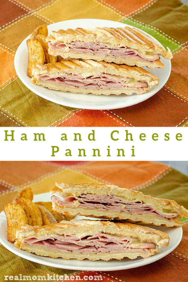 Ham and Cheese Pannini | realmomkitchen.com