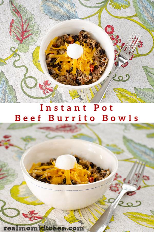 Instant Pot Beef Burrito Bowls | realmomkitchen.com