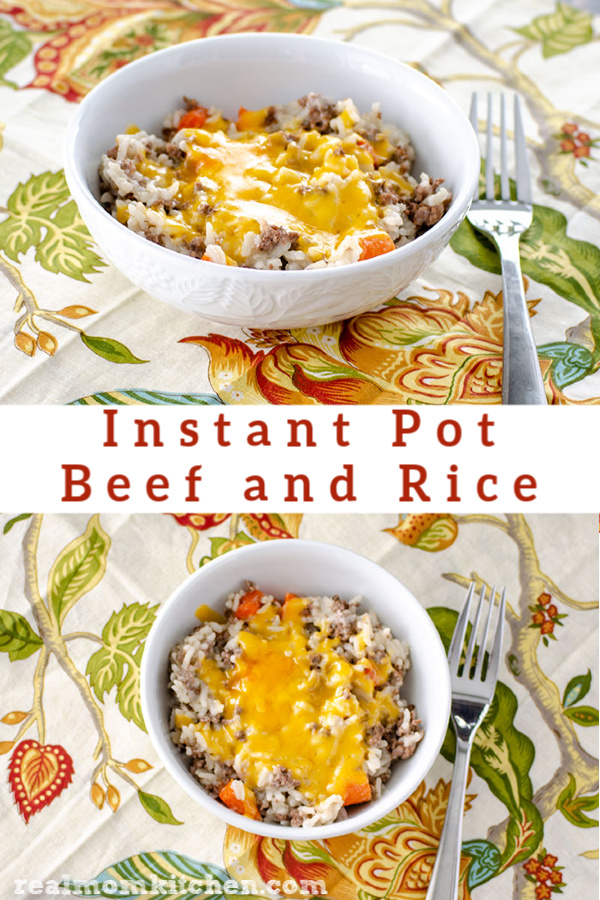 Instant Pot Beef and Rice | realmomkitchen.com