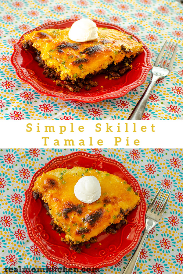 Simple Skillet Tamale Pie | realmomkitchen.com
