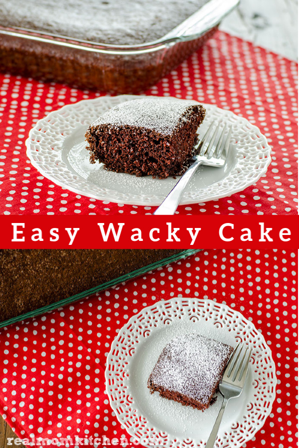 Easy Wacky Cake | realmomkitchen.com