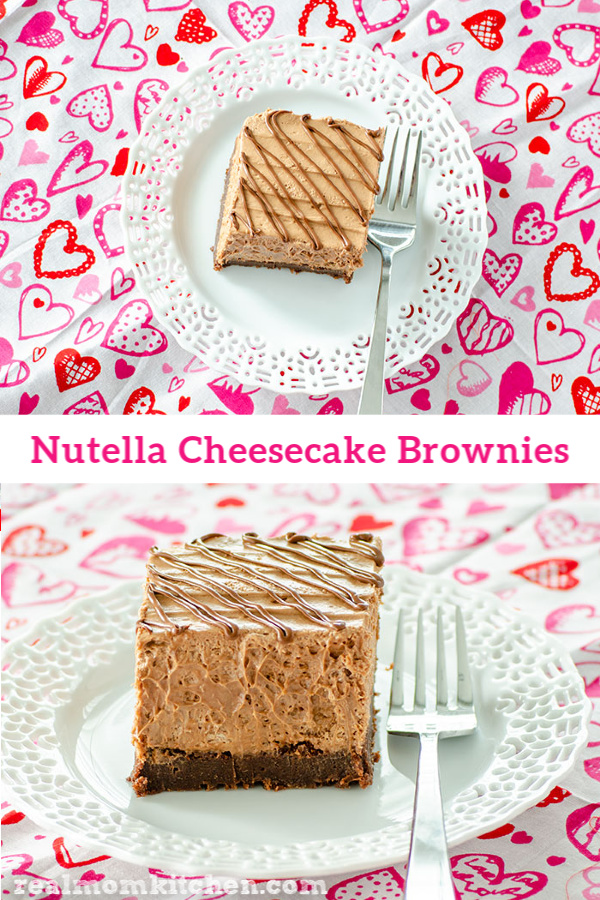 Nutella Cheesecake Brownies | realmomkitchen.com