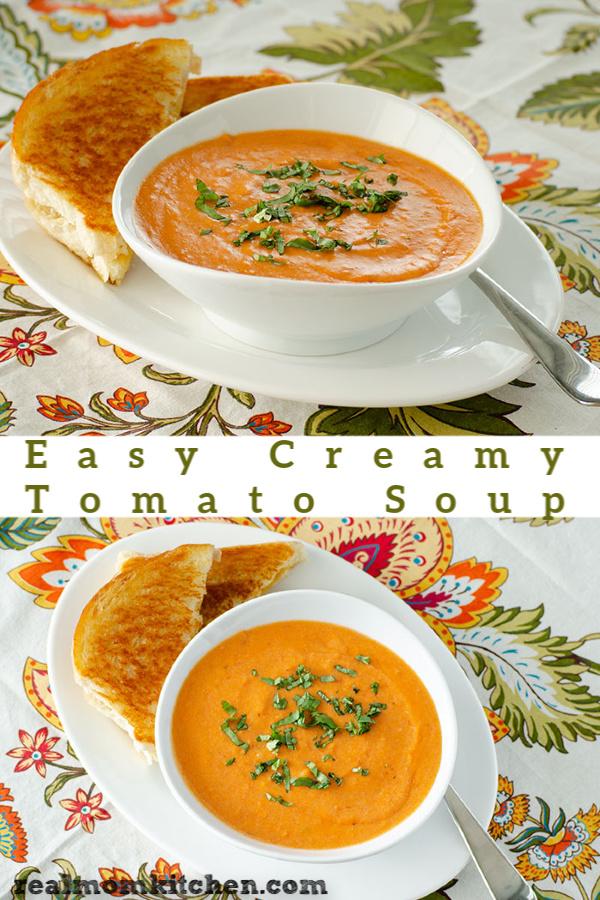 Easy Creamy Tomato Soup | realmomkitchen.com