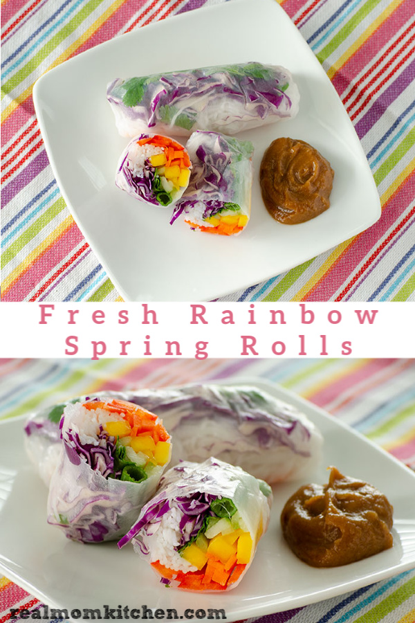 Fresh Rainbow Spring Rolls | realmomkitchen.com