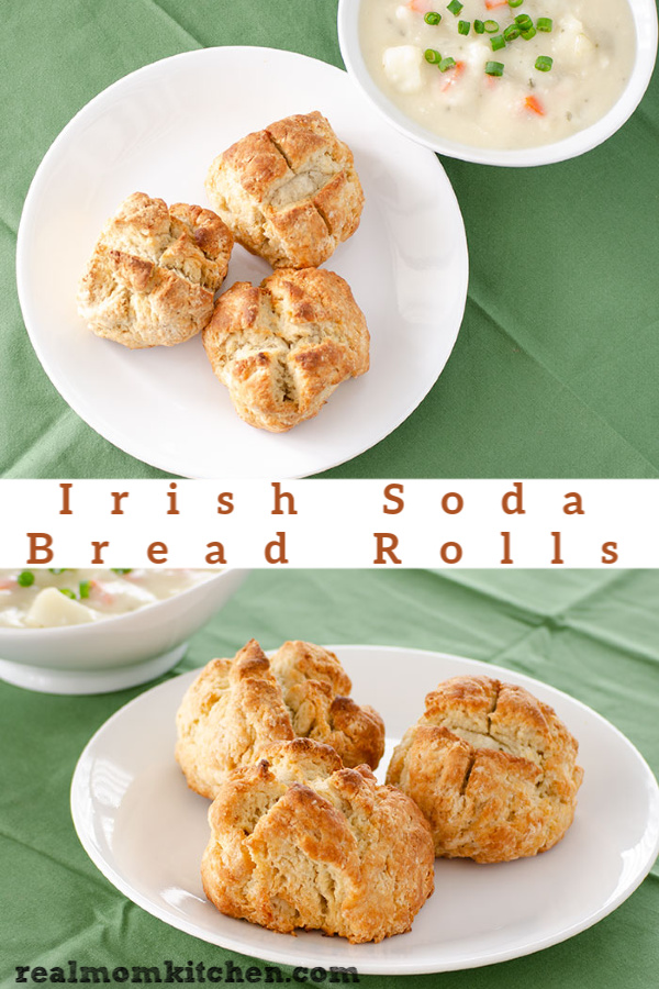 Irish Soda Bread Rolls | realmomkitchen.com