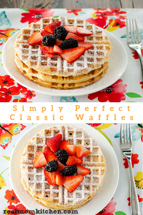 Simply Perfect Classic Waffles | realmomkitchen.com