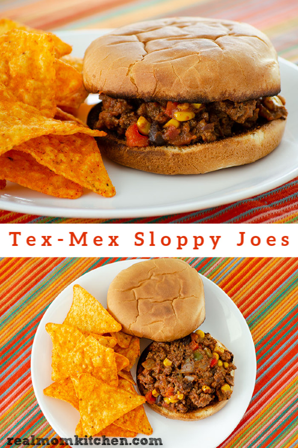 Tex-Mex Sloppy Joes | realmomkitchen.com