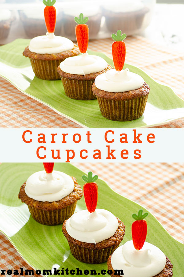 Carrot Cake Cupcakes | realmomkitchen.com