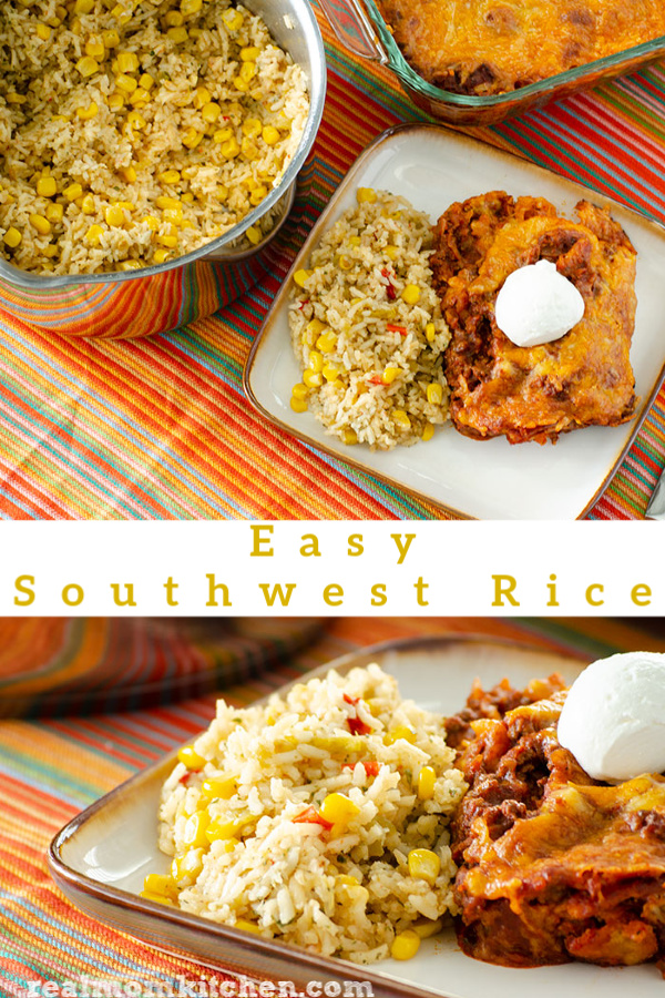 Easy Southwest Rice | realmomkitchen.com