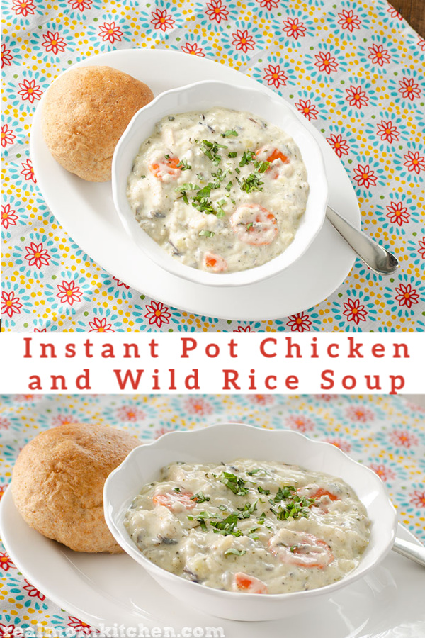 Instant Pot Chicken and Wild Rice Soup | realmomkitchen.com