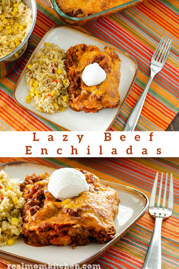 Lazy Beef Enchiladas | realmomkitchen.com