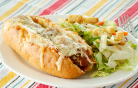 Oven Baked Meatball Subs | realmomkitchen.com