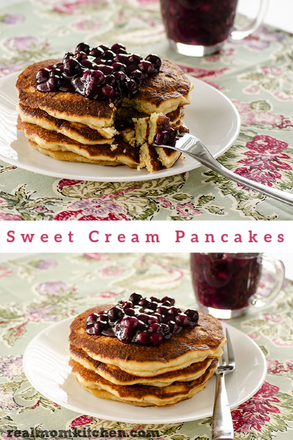 Sweet Cream Pancakes | realmomkitchen.com