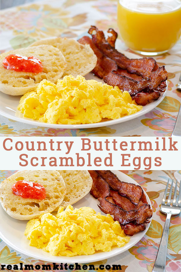 Country Buttermilk Scrambled Eggs | realmomkitchen.com