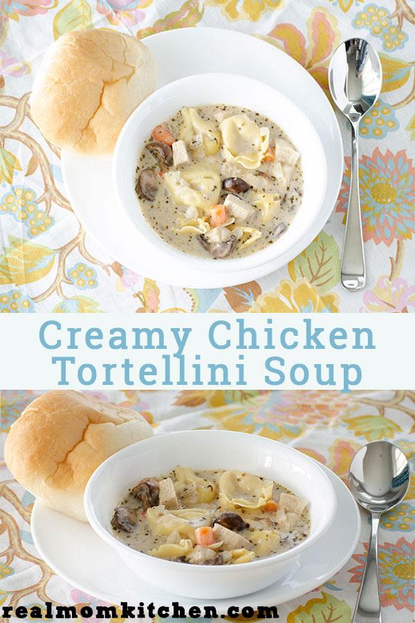 Creamy Chicken Tortellini Soup | realmomkitchen.com