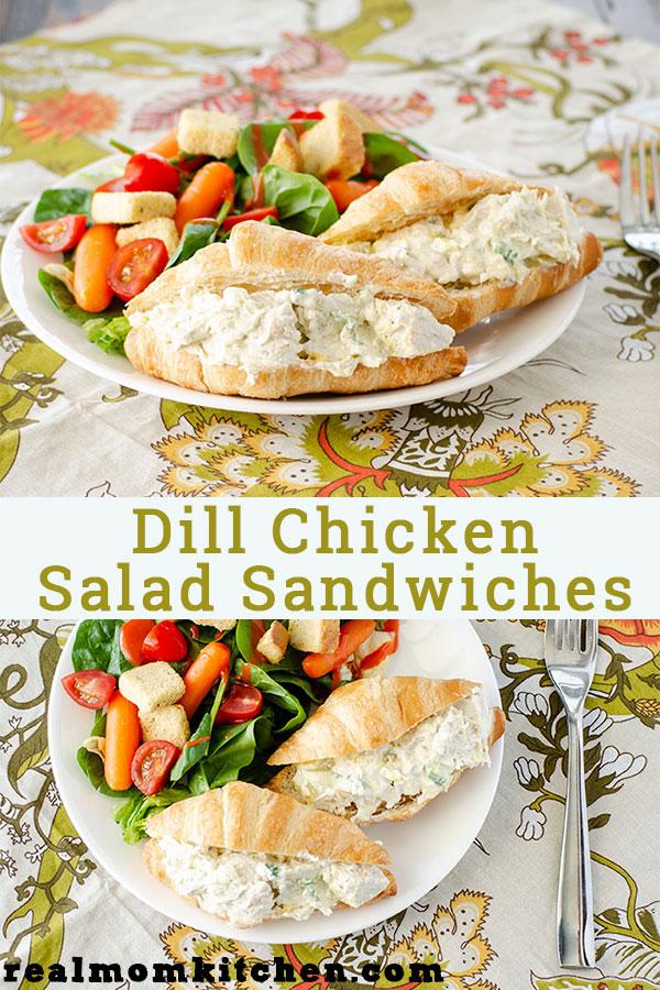 Dill Chicken Salad Sandwiches | realmomkitchen.com