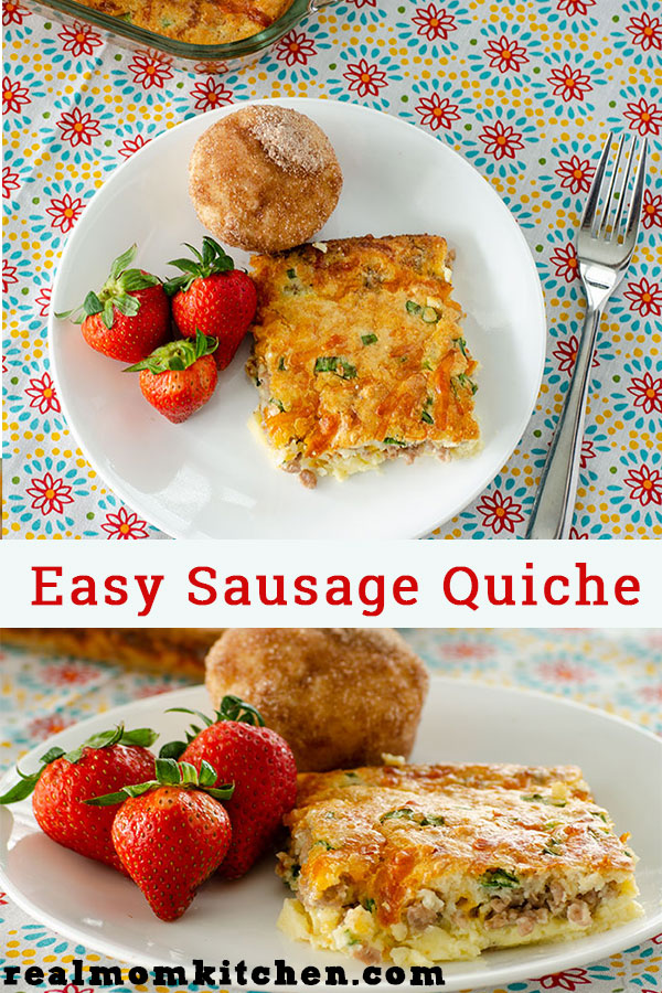 Easy Sausage Quiche   realmomkitchen.com