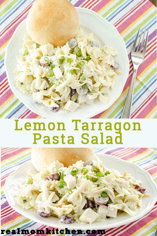 Lemon Tarragon Pasta Salad | realmomkitchen.com