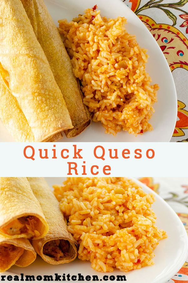 Quick Queso Rice | realmomkitchen.com