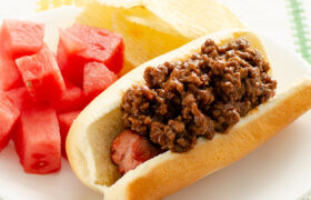 BBQ Beef Hot Dogs | realmomkitchen.com