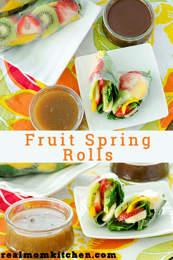 Fruit Sping Rolls | realmomkitchen.com