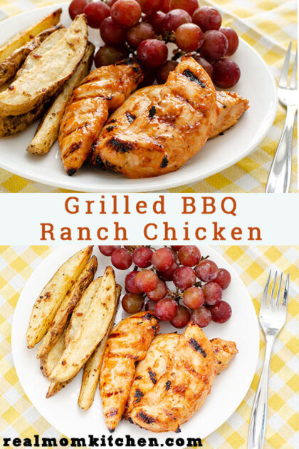 Grilled BBQ Ranch Chicken | realmomkitchen.com
